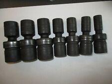 7 Unused Snap On Tools 12 Dr Metric 6pt Impact Swivel Sockets Iplm19b 18b