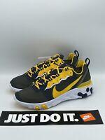 Nike React Element 55 Running Shoes Michigan Wolverines Men Size 10.5 CK4846-400