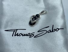 THOMAS SABO Charm Club Black Enamel CZ Thong Flipflop Shoe Clip On CHARM Genuinw