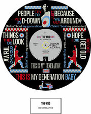 More details for the who - memorabilia - my generation poster - limited edition - ideal gift