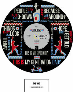 THE WHO - MEMORABILIA - MY GENERATION Poster - Limited Edition - Ideal Gift