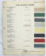 1954  DUPONT COLOR PAINT CHIP CHART ALL MODELS ORIGINAL MOPAR