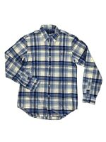 Polo Ralph Lauren Men's Button Up Long Sleeve Blue Plaid Pony Logo 71067301 New