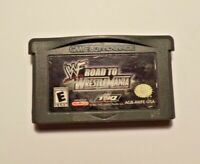 Nintendo Gameboy Advance ROAD TO WRESTLEMANIA No Manual - No Box Tested