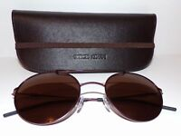 Emporio Armani EA 2026 3083/73 Bordeaux/Gunmetal Round Sunglasses 52mm with Case