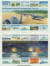 BATAILLE - WWII GUADALCANAL 50tH ANNIVERSARY SOLOMON ISLANDS 1992 blocks