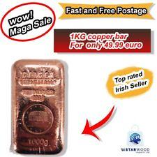1 Kilo 1000g Copper Bar Schloss Güldengossa Cast 9999 Fine Originally Great Gift