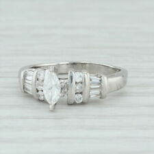 52ctw Diamond Engagement Ring - 950 Platinum Size 5 Solitaire w Accents Women's