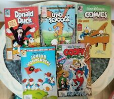 Lot of 5 Assorted Disney Comics: Mickey & Donald, Uncle Scrooge, Goofy & More!