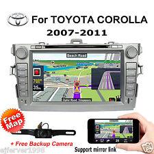"8"" Car DVD Radio GPS stereo for Toyota Corolla 2007 2008 2009 2010 2011+Camera"