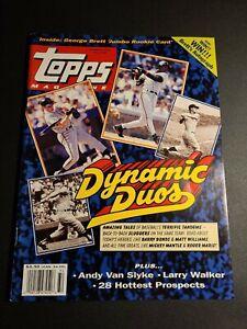 Topps Magazine Summer 1993 #15 w/George Brett Jumbo Rookie Card