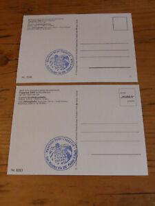2 x Postkarte Zugspitze Zugspitz-Großkabinenbahn mit Sonderstempel Münchner Haus