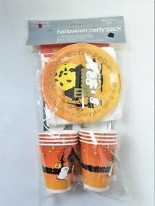 American Greetings Halloween Ghosts Party Pack for 8 With Tablecloth Vintage 920