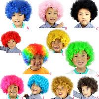 Carnival Disco Funny Afro Clown Hair Football Fan-Kids Afro Masquerade Hair Wigs
