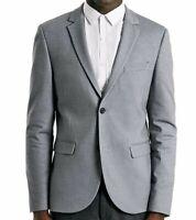 TOPMAN Skinny Fit Light Grey Jersey Blazer Size 38R 40R