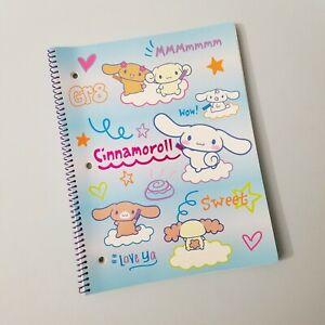 Sanrio Cinnamoroll Notebook Full Size School Book Office Supplies Kawaii RARE