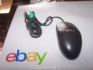 Dell PS/2 Mechanical Scroll Mouse- Black Mouse P/N 851841-0000