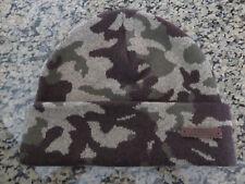 Polo RALPH LAUREN Wool Blend Olive CAMO Beanie Hat Skull Ski Cap
