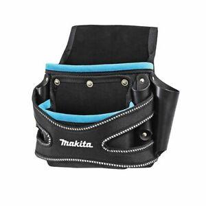 Makita 2 Pocket Fixings Pouch Black Blue