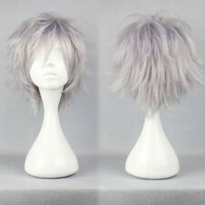 Unisex Short Anime Wig Women Mens Cosplay Synthetic Hair Wig Costume Straight la