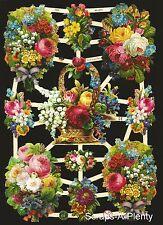 German Victorian Style Embossed Scrap Die Cut - BOLD Flower / Rose    EF7345