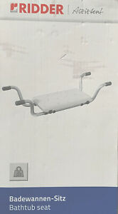 RIDDER Assistant Bathtub Bath Seat  Eco White Brand New Boxed.