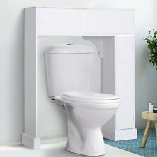 HOMCOM Over-The-Toilet Storage Cabinet Shelf Organizer Freestanding Spacesaver