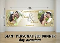 Personalised GIANT Large Congratulations Wedding Engagement Mr & Mrs Banner N75