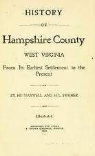 1897 HAMPSHIRE County, West Virginia, WV, History and Genealogy DVD CD B19