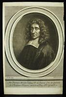 Antoine Furetière (1620-1688) Abbot of Chalivoy Sc Gerard Edelinck 18th of Seve