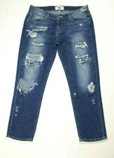 Paige Women Sz 27 Skinny Capri Jeans Low Rise Destroyed Ripped Distressed Patch
