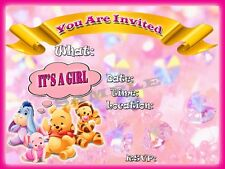 Itu0027s A Girl Baby Shower Invitations With Matching Envelopes, Winnie Pooh  12pack