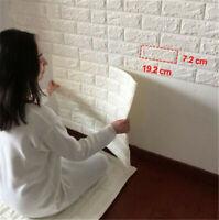 PE Foam 3D DIY Self Adhesive Panels Wall Stickers Home Decor DIY Embossed Brick