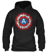 Autism Awareness Captain Shield Gildan Hoodie Sweatshirt