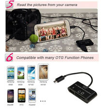 3 in 1 Card Reader ADAPTER Micro SD Card to USB Connector For Mobile Phone