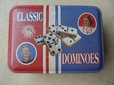 Dominoes Classic Series Tin Game Made in the USA Channel Craft Tin Box