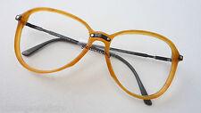 Valentino Designerfassung Brillen Vintage hellbraun tropfenförmig Grösse M