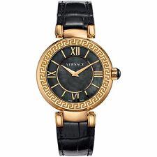 Versace Leda Women's VNC040014 Gold IP Steel Case Black MOP Dial Watch