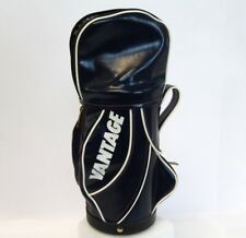 """Vintage 15"""" Vantage Mini Navy Blue White Golf Bag Novelty Drink Cooler Cup Case"""