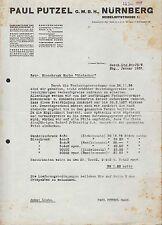 NÜRNBERG, Prospekt 1938, Paul Putzel Eisschränke