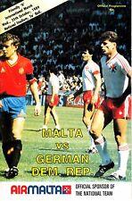 Programm Länderspiel Malta - DDR 25.10.89 Deutschland
