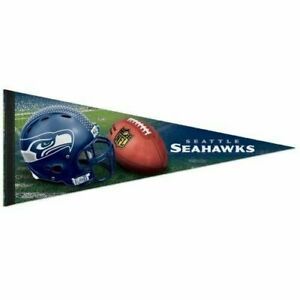 "Brand New SEATTLE SEAHAWKS NFL FOOTBALL PREMIUM QUALITY PENNANT 12"" X 30"" BANNER"