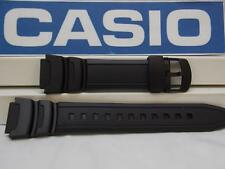 Casio Watch Band WS-200, WS-210 Black Rubber Watchband / Strap.W-S200