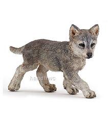 Papo 50162 Gray Wolf Cub Pup Grey Wolferin Model Figurine Toy Replica - Nip