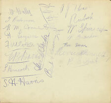 CORNWALL / DEVON RUGBY RELATED AUTOGRAPH SHEET INCLUDING BERT SOLOMON CIRCA 1907