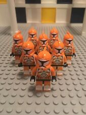 8 LEGO BOMB SQUAD CLONE TROOPERS MINIFIGS lot star wars figures army 7913 orange