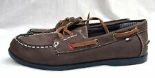Tommy Hilfiger boys size 4 boat shoes brown