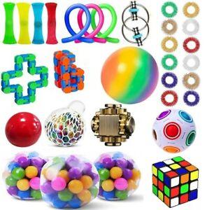 1-40Pack Fidget Toys Set Sensory Tools Bundle Stress Relief Hand Kids Adults Toy