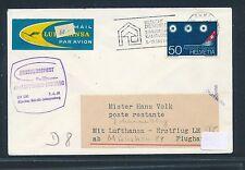96332) LH FF München - Johannesburg 7.4.68, Brief ab Schweiz
