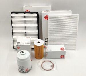 HYUNDAI Santa FE CM Cabin Air Oil Fuel Filter Kit 2.2L Turbo Diesel 11/2009-ON